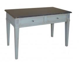 Stôl MILTON s dvoma zásuvkami a dvoma výsuvnými doskami