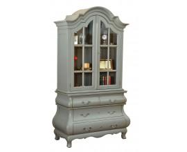 Luxusná rustikálna zdobená vitrína MADISON z masívnu 122cm