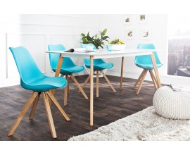 Dizajnová Retro stolička Scandinavia tyrkys