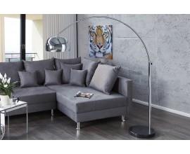 Dizajnová moderná stojaca lampa Big Bow II 170-205 cm chróm
