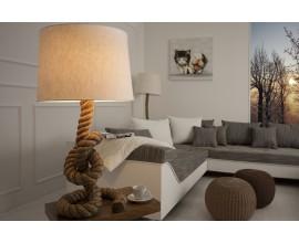 Dizajnová štýlová stolná lampa Marinero 85cm prírodná krémová