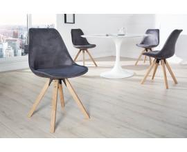 Dizajnová štýlová retro stolička Scandinavia tmavá sivá