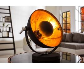 Retro elegantná stolná lampa Studio 40 cm čierna/zlatá