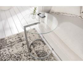 Dizajnový moderný konferenčný stolík Effect  50 - 70 cm výškovo nastaviteľný