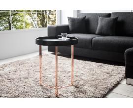 Dizajnový elegantný konferenčný stolík Modul 40 cm čierny
