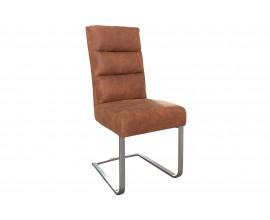Štýlová komfortná jedálenská stolička Comfort Vintage svetlo hnedá