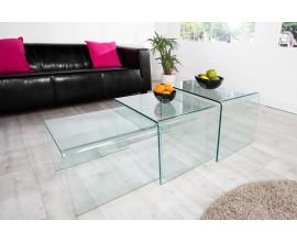 Set troch sklených stolíkov do moderných a dizajnových priestorov