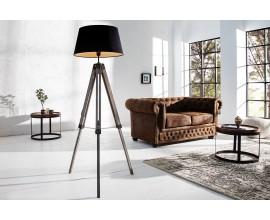 Dizajnová elegantná stojaca lampa Sylt 100- 140 cm čierna