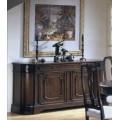 Luxusný rustikálny príborník Neuvas formas z dreva s vyrezávanou výzdobou