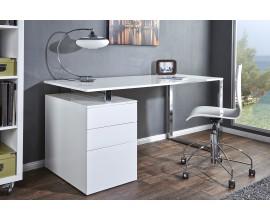 Luxusný elegantný písací stôl Compact biely