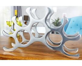 Dizajnový extravagantný hliníkový stojan na 10 fliaš