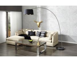 Dizajnová moderná stojaca lampa čierno-zlatá