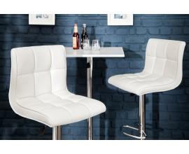 Barová stolička Modena 90-115 cm biela