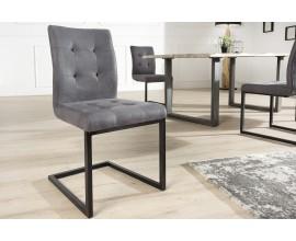 Moderná dizajnová jedálenská stolička Oxford šedá