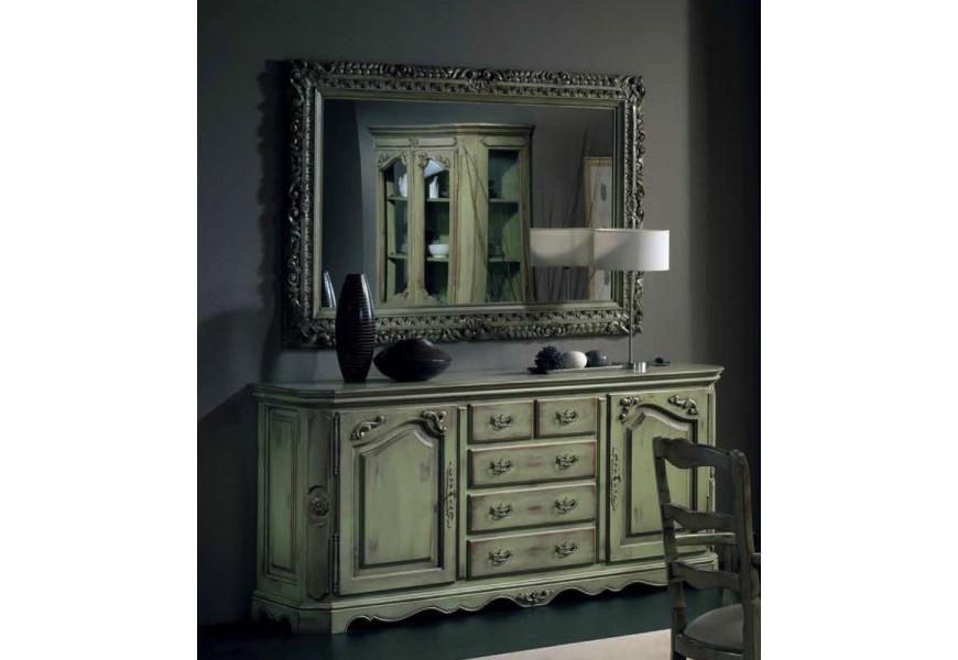 Luxusný príborník Nuevas formas z  dreva so zásuvkami a dvierkami s vyrezávaním