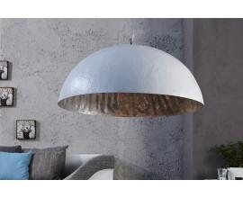 Luxusné elegantné závesné svietidlo Glow bielo-strieborné 50cm