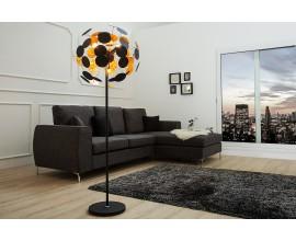 Exkluzívna moderná stojaca lampa Infinity 170 cm čierno - zlatá