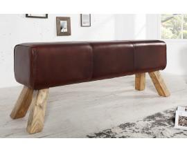 Luxusná moderená lavica Bock II. hnedá