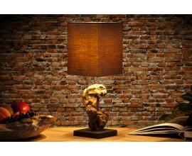 Štýlová stolná lampa Hypnotic 45cm hnedá