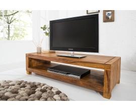 Minimalistický a moderný TV stolík z masívneho dreva