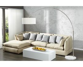 Dizajnová stojaca moderná lampa Extenso biela