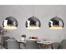 Moderné dizajnové závesné svietidlo Chromagon chrómové