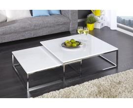 Štýlový moderný konferenčný stolík New Fusion sada 2ks biela