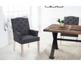 Štýlová retro stolička Silloth sivá