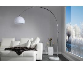 Dizajnová moderná stojaca lampa Big Bow II biela 175-205cm