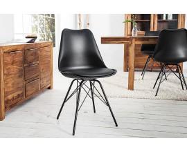 Dizajnová moderná jedálenská stolička Scandinavia čierna