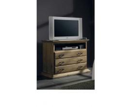 Drevený TV stolík  Nuevas formas v rustikálnom štýle s tromi zásuvkami 102cm