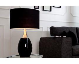 Moderná štýlová stolná lampa Carla 60cm čierna