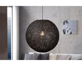 Štýlová moderná závesná lampa Cocoon čierna