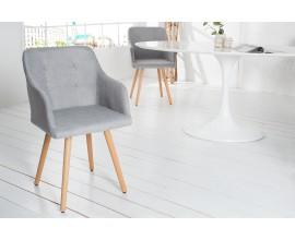 Retro stolička s opierkami Scandinavia drukovaná šedá