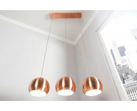 Štýlové závesné svietidlo Copper medené