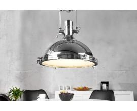 Luxusné moderné závesné svietidlo Industrial 45cm strieborné