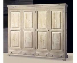 Rustikálna skriňa Nuevas formas so štyrmi dverami 236cm