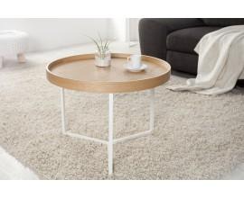 Štýlový konferenčný stolík Modul 60 cm prírodná-biela