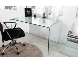 Sklenený veľký písací stôl Ghost 120cm
