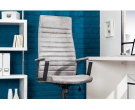 Moderná kancelárska stolička Lazio high grey vintage