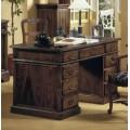 Elegantný rustikálny písací stôl Nuevas formas s deviatimi zásuvkami