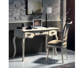 Zámocký elegantný písací stôl Nuevas formas s vyrezávanými nožičkami 123cm