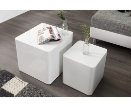 Moderný stolík Monobloc biely set 2ks
