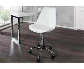 Moderná dizajnová kancelárska stolička Scandinavia  biela