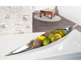 Luxusná dekoračná misa na ovocie 80x15cm strieborná