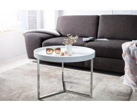 Štýlový konferenčný stolík Modul 60 cm biela, strieborná