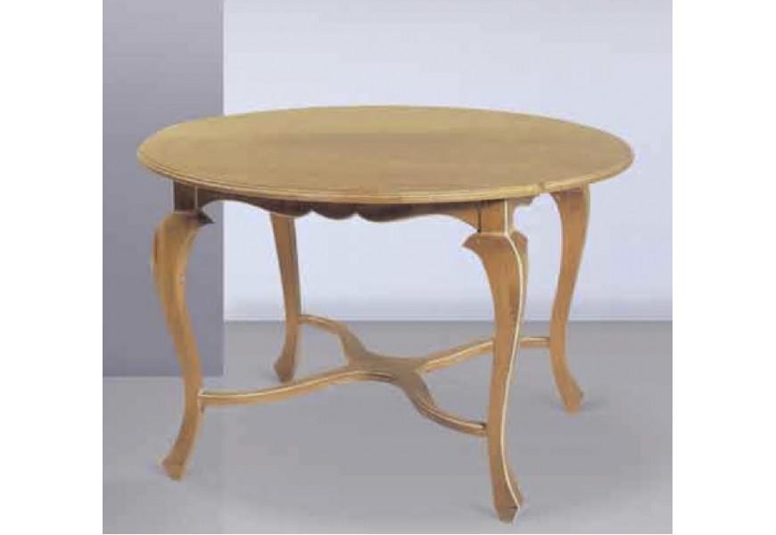 Elegantný drevený jedálenský stôl Nuevas formas okrúhleho tvaru