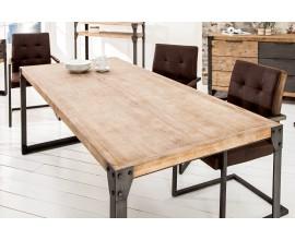 Industriálny jedálenský stôl Factory 200cm z kovu a dreva agát