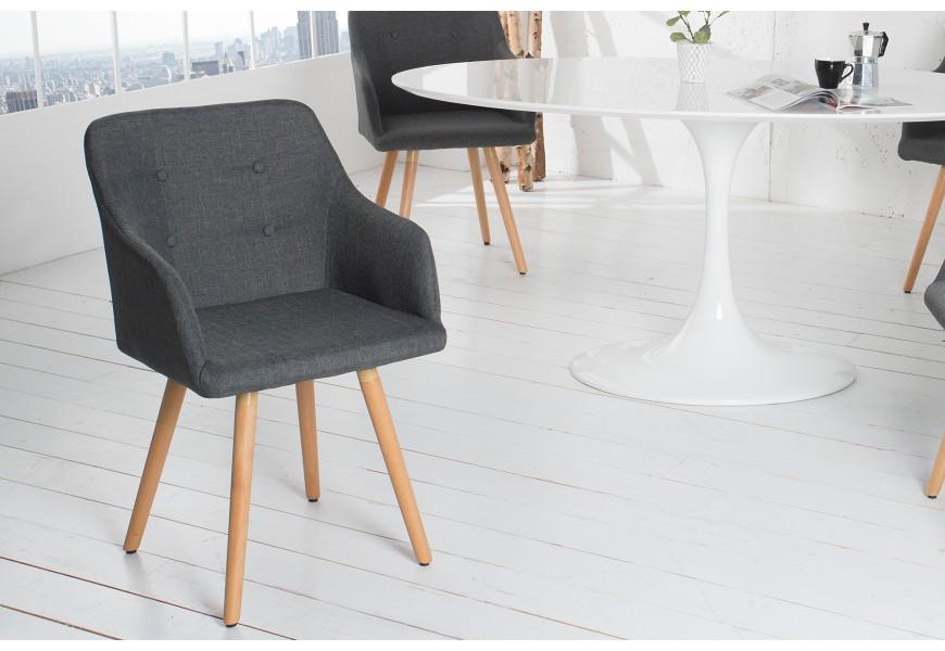 Dizajnová moderná jedálenská stolička Scandinavia šedá