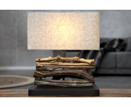 Dizajnová stolná lampa Perifere 40cm béžová